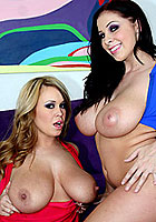 big tit babes brandy talore and gianna michaels hardcore threesome