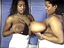 Huge boob black Brits Jenny Hill and Amanda White