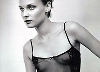 hollywood star diane kruger perky nipples exposed through seethrough top